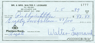 BUCK LEONARD - AUTOGRAPHED SIGNED CHECK 01/05/1989