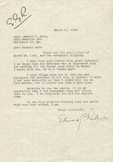 EDWARD G. ROBINSON - TYPED LETTER SIGNED 03/21/1953