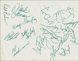 NEW YORK JETS - AUTOGRAPH CIRCA 1970 CO-SIGNED BY: JOHN SCHMITT, JOE NAMATH, JOHN RIGGINS, DON MAYNARD, RALPH BAKER, AL ATKINSON, LARRY GRANTHAM, WINSTON HILL, PETE LAMMONS, RANDY RASMUSSEN, GERRY PHILBIN, WIMP HEWGLEY, BOBBY HOWFIELD, MARK LOMAS, DAVE FOLEY, JOHN DOCKERY, BOB DAVIS, STEVE TANNEN, PAUL CRANE, SCOTT PALMER, RICH CASTER, DANNY DYCHES, EARLIE THOMAS, W.K. HICKS, STEVE HARKEY, JOHN LITTLE, GEORGE NOCK, CLIFF MCCLAIN, WAYNE STEWART, JOHN EBERSOLE, BILL ZAPALAC, CHRIS FARASOPOULOS, HARVEY NAIRN, JOHN MOORING