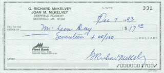 LEON DAY - CHECK ENDORSED 12/07/1993 CO-SIGNED BY: G. RICHARD MCKELVEY