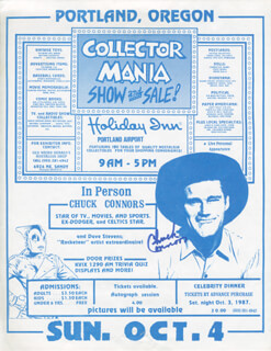 CHUCK CONNORS - ADVERTISEMENT SIGNED CIRCA 1987