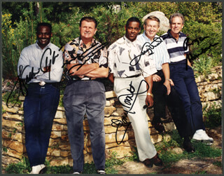 WALTER SWEETNESS PAYTON - AUTOGRAPHED SIGNED PHOTOGRAPH CO-SIGNED BY: TONY DORSETT, MIKE DITKA, JOHNNY UNITAS, ROGER STAUBACH