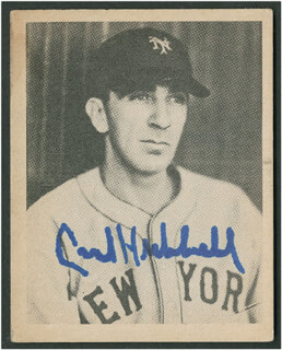 CARL HUBBELL - TRADING/SPORTS CARD SIGNED  - HFSID 290163
