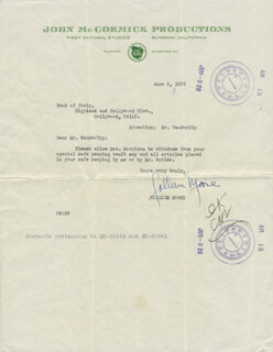 COLLEEN MOORE - TYPED LETTER SIGNED 06/08/1928