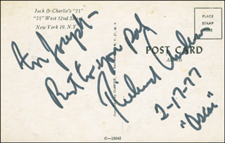 RICHARD ANDERSON - AUTOGRAPH NOTE SIGNED 02/17/1977