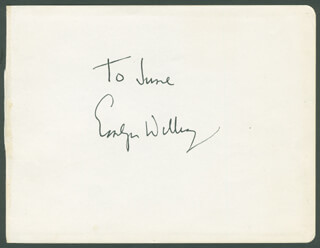 EMLYN WILLIAMS - INSCRIBED SIGNATURE