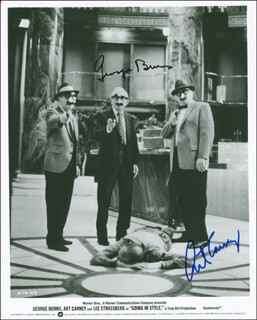 GOING IN STYLE MOVIE CAST - AUTOGRAPHED SIGNED PHOTOGRAPH CO-SIGNED BY: GEORGE BURNS, ART CARNEY
