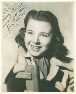 JANE WITHERS - AUTOGRAPHED INSCRIBED PHOTOGRAPH