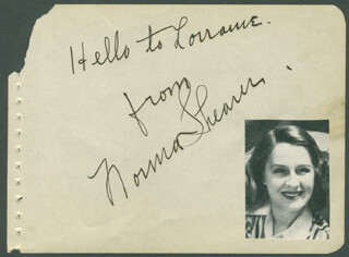 NORMA SHEARER - AUTOGRAPH NOTE SIGNED