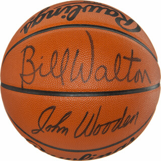 JOHN WOODEN - BASKETBALL SIGNED CO-SIGNED BY: BILL WALTON
