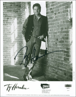 TY HERNDON - AUTOGRAPHED SIGNED PHOTOGRAPH