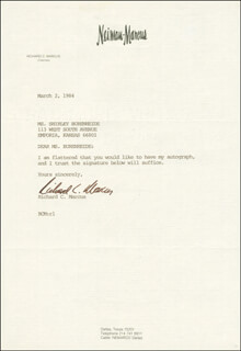 RICHARD C. MARCUS - TYPED LETTER SIGNED 03/02/1984