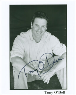 TONY O'DELL - AUTOGRAPHED SIGNED PHOTOGRAPH