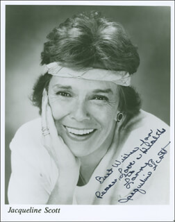 JACQUELINE SCOTT - AUTOGRAPHED INSCRIBED PHOTOGRAPH