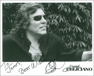 JOSE FELICIANO - INSCRIBED PRINTED PHOTOGRAPH SIGNED IN INK