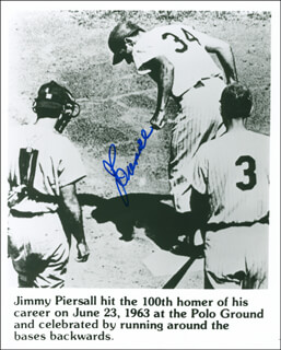 JIMMY PIERSALL - AUTOGRAPHED SIGNED PHOTOGRAPH