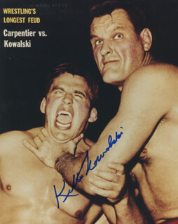 KILLER (WALTER) KOWALSKI - AUTOGRAPHED SIGNED PHOTOGRAPH