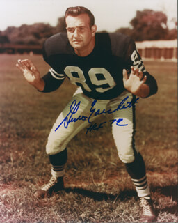 GINO MARCHETTI - AUTOGRAPHED SIGNED PHOTOGRAPH