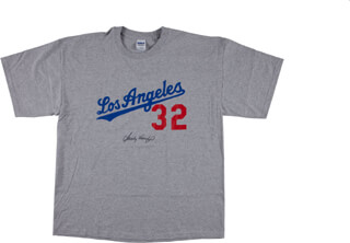 SANDY KOUFAX - TEE SHIRT SIGNED - HFSID 290393 57a5bb6b2