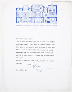 RAY BRADBURY - TYPED LETTER SIGNED 06/24/1974