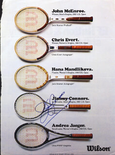 JIMMY CONNORS - MAGAZINE ADVERTISEMENT SIGNED