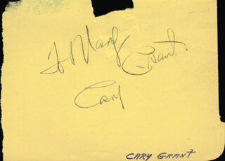 CARY GRANT - INSCRIBED SIGNATURE