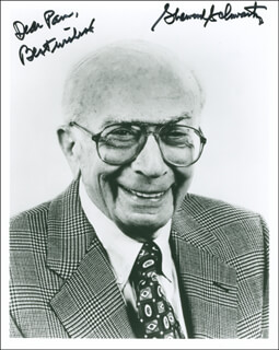 SHERWOOD SCHWARTZ - AUTOGRAPHED INSCRIBED PHOTOGRAPH