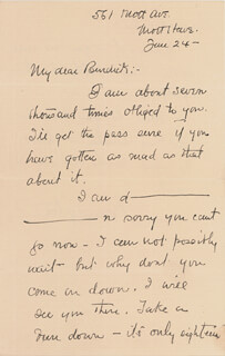 FREDERIC REMINGTON - AUTOGRAPH LETTER SIGNED 6/24