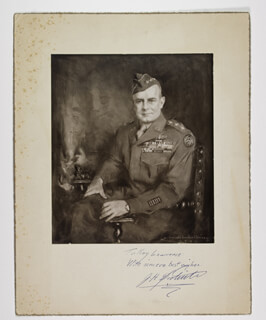 Autographs: BRIGADIER GENERAL JAMES H. JIMMY DOOLITTLE - INSCRIBED PHOTOGRAPH MOUNT SIGNED