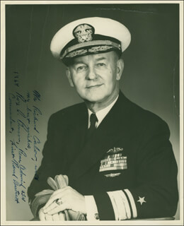 Autographs: REAR ADMIRAL ROY S. BENSON - INSCRIBED PHOTOGRAPH SIGNED 1968