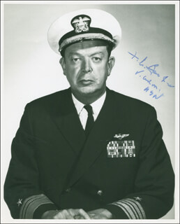 Autographs: VICE ADMIRAL FREDERIC A. BARDSHAR - PHOTOGRAPH SIGNED