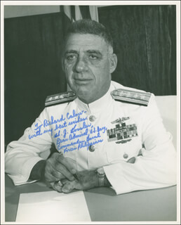 REAR ADMIRAL HERMAN JOSEPH KOSSLER - AUTOGRAPHED INSCRIBED PHOTOGRAPH