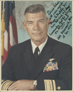 REAR ADMIRAL MAYO A. HADDEN - AUTOGRAPHED INSCRIBED PHOTOGRAPH 01/18/1972