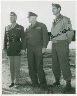 GENERAL MARK W. CLARK - AUTOGRAPHED SIGNED PHOTOGRAPH