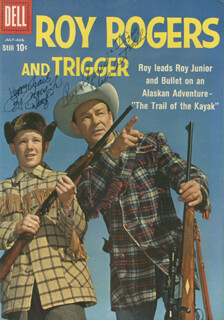 ROY ROGERS - COMIC BOOK SIGNED CO-SIGNED BY: ROY DUSTY ROGERS, JR.
