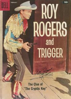 ROY ROGERS - COMIC BOOK SIGNED