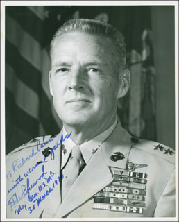 Autographs: MAJOR GENERAL HUGH M. ELWOOD - INSCRIBED PHOTOGRAPH SIGNED 03/30/1970