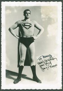 GEORGE SUPERMAN REEVES - INSCRIBED PHOTOGRAPH UNSIGNED CIRCA 1956