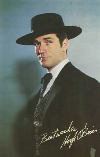 HUGH O'BRIAN - PICTURE POST CARD UNSIGNED CIRCA 1958