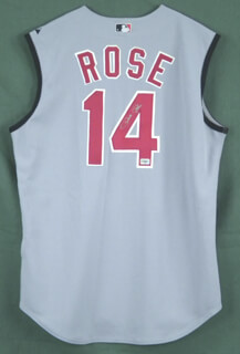 PETE ROSE - JERSEY SIGNED  - HFSID 290532