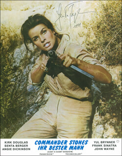 SENTA BERGER - PRINTED PHOTOGRAPH SIGNED IN INK 1999