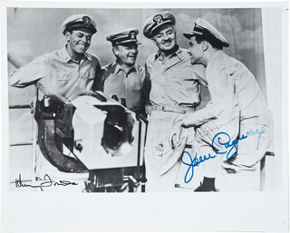 MISTER ROBERTS MOVIE CAST - AUTOGRAPHED SIGNED PHOTOGRAPH CO-SIGNED BY: HENRY FONDA, JAMES CAGNEY