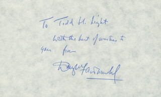 Autographs: DOUGLAS FAIRBANKS JR. - AUTOGRAPH NOTE SIGNED