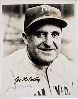 JOE MCCARTHY - AUTOGRAPHED SIGNED PHOTOGRAPH