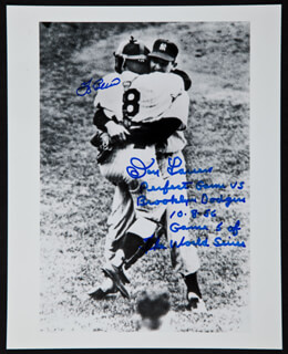DON LARSEN - AUTOGRAPHED SIGNED PHOTOGRAPH CO-SIGNED BY: YOGI BERRA