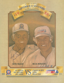 Autographs: GENE SKIP MAUCH - PAMPHLET SIGNED