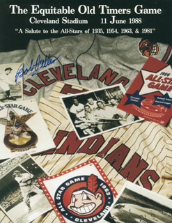 BOB FELLER - PAMPHLET SIGNED
