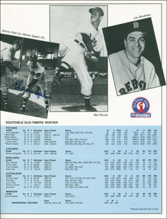 WARREN SPAHN - PAMPHLET SIGNED