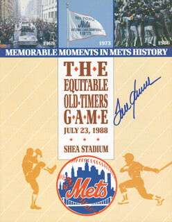 TOM TOM TERRIFIC SEAVER - PROGRAM SIGNED