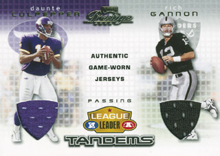 DAUNTE CULPEPPER - EPHEMERA UNSIGNED WITH RICH GANNON